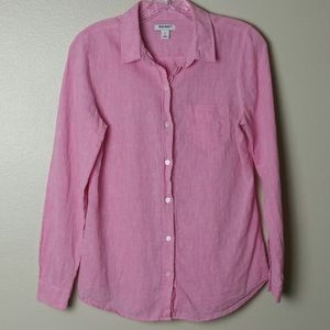 Old Navy Pink Button Down Long Sleeve Shirt sz PS